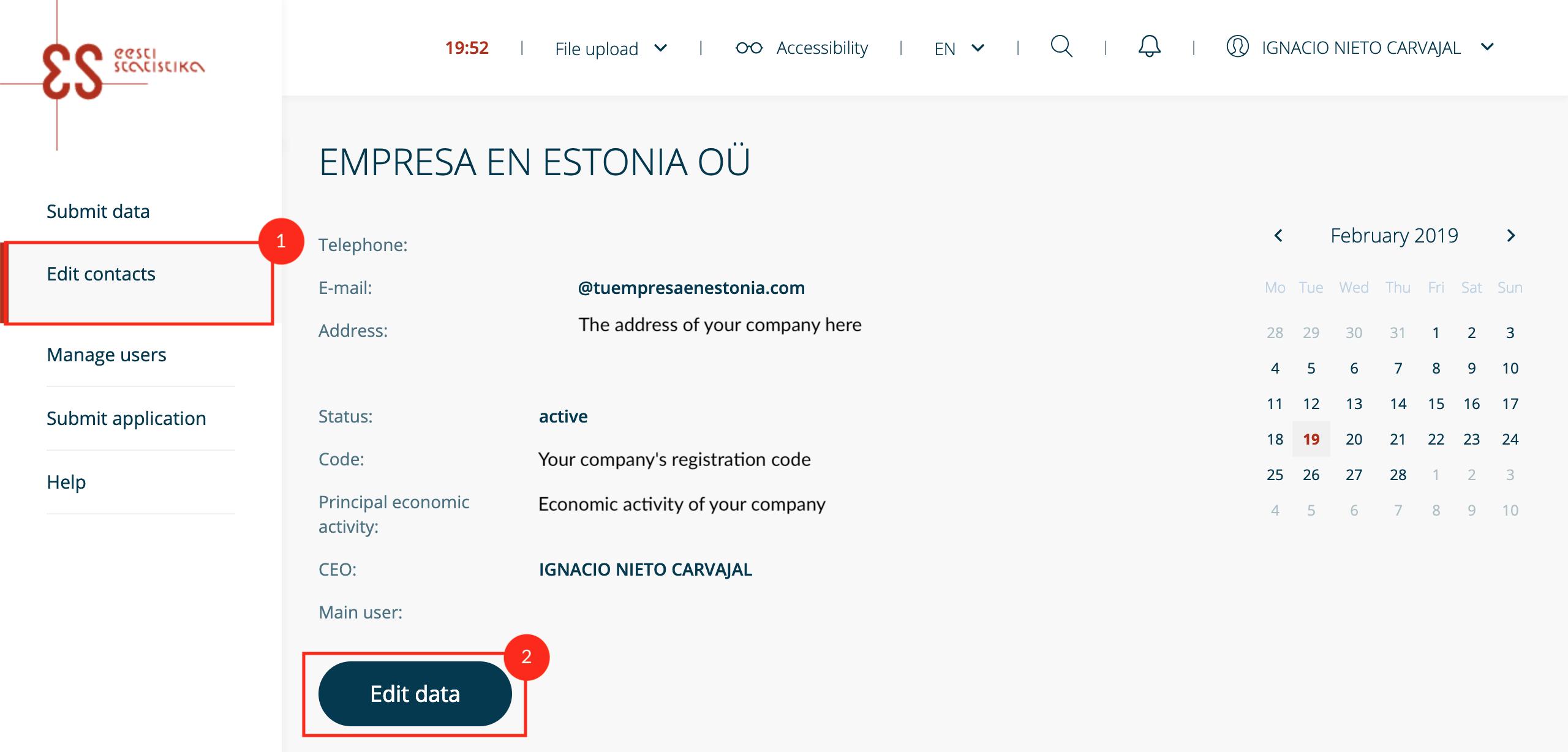 Cómo Actualizar La Información De Tu Empresa Estonia En El Portal De Estadísticas