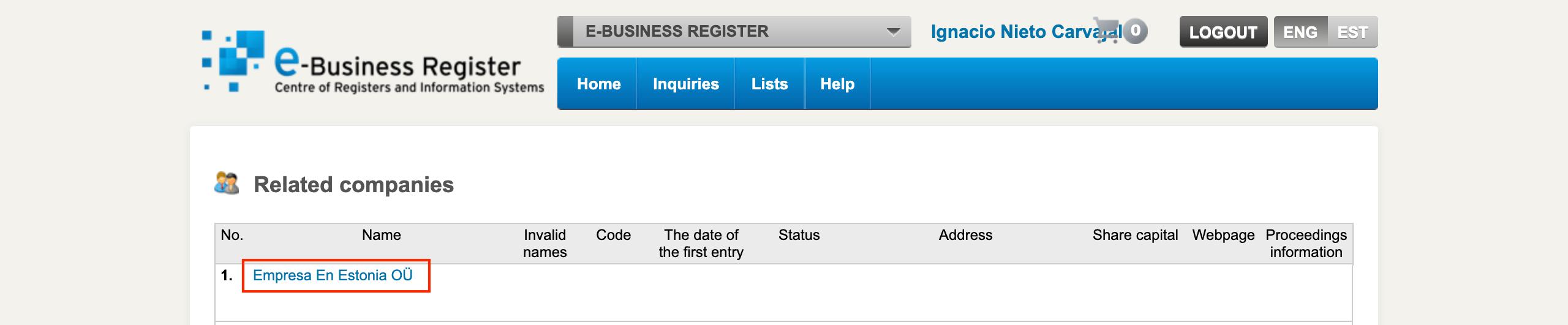 artículos de asociación, Cómo Descargar La Entrada En El Registro Y Los Artículos De Asociación De Tu Empresa En Estonia