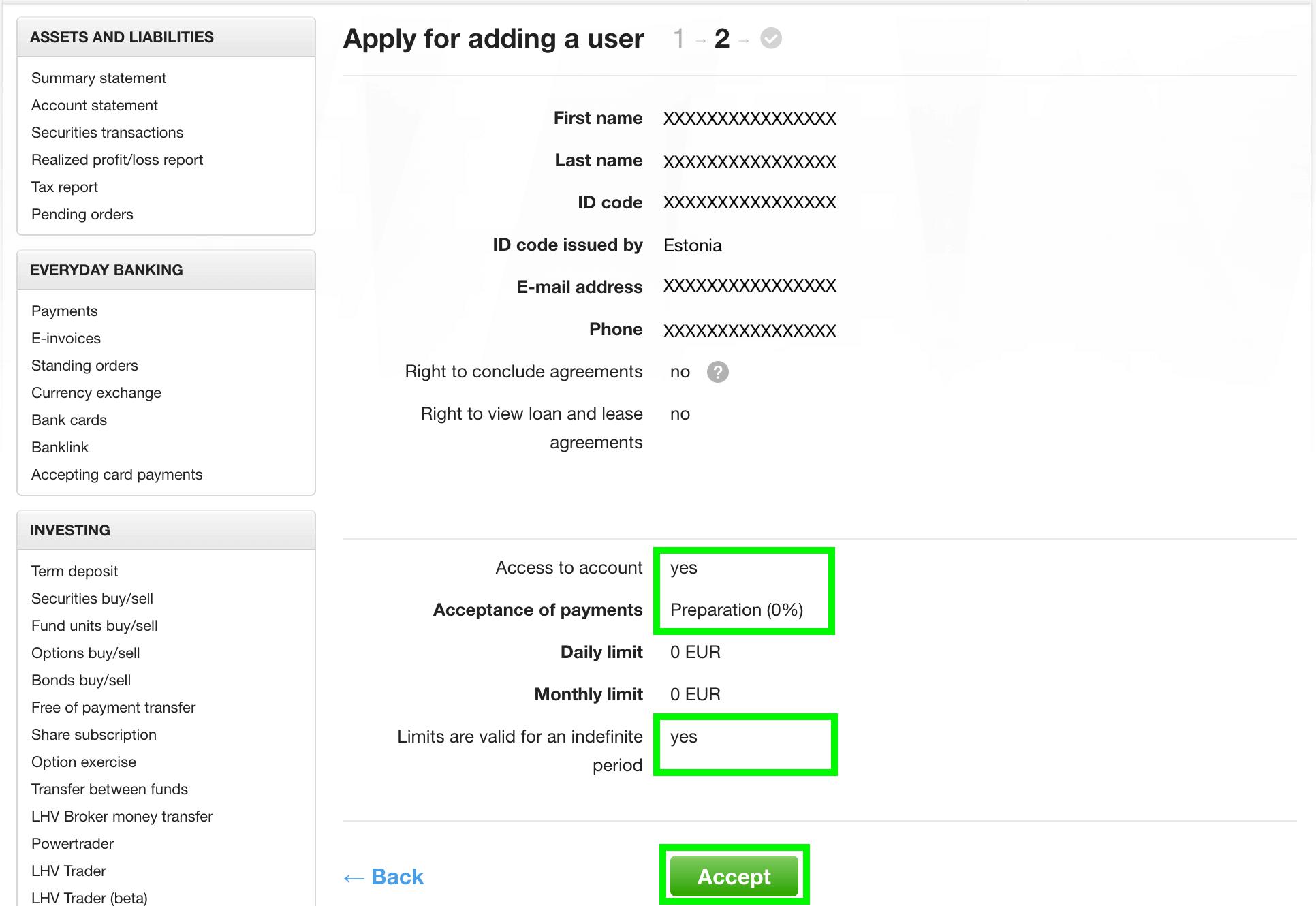 permiso acceder LHV, Cómo Darnos Permiso Para Acceder A LHV Para El Matching De Tu Contabilidad
